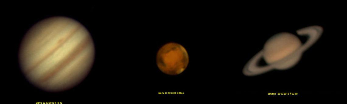 Giove Marte Saturno