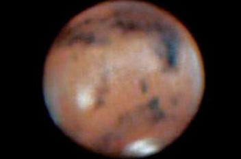 Marte con nuvole filtro ir-cut