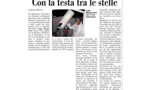 Intervista a giornale locale