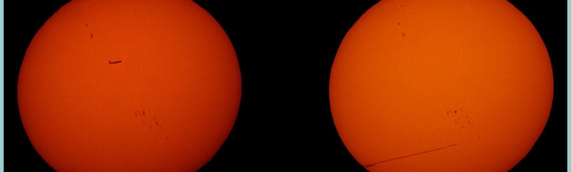 Due aerei nello stesso momento transitavano davanti al Sole