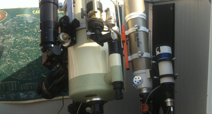 #Takahashi mewlon 250 - ED 80 - ED 70 carbon - SolarMax H-alfa 40 mm SolarMax Ca-K 70 mm montatura EQ8 Skywatcher