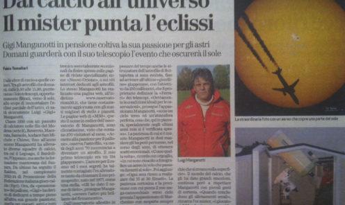 Articolo apparso sul giornale l'Arena di verona il19 03 2015