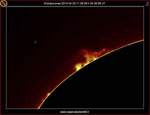 Protuberanze 15-04-22 11-38-08 h 09 38 08 UT
