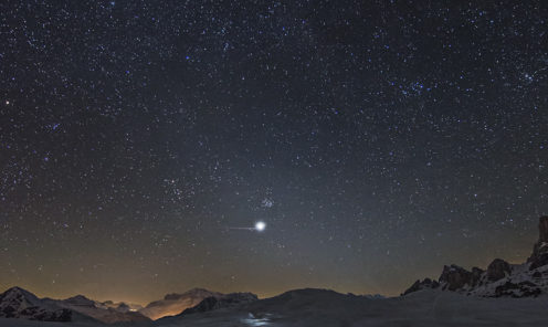 Riflesso-venere-e-luce-zodiacale Giorgia Hofer