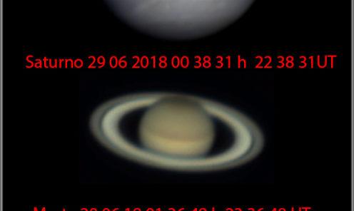 Tre pianeti in una sola serata 29 06 2018