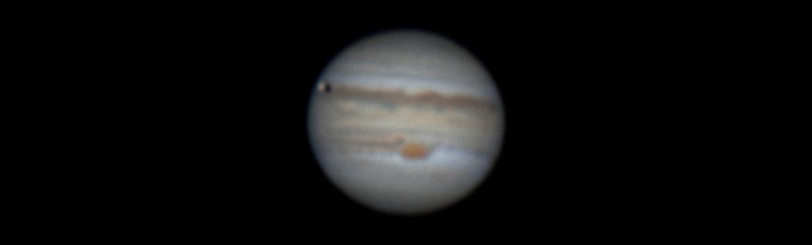 Giove e ombra di Io14 06 2019  01 18  46 h 23 18 43 UT