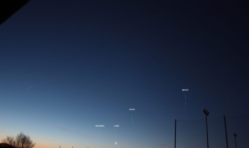 Allineamento pianeti 20/02/2020 06 23 h 05 23 UT