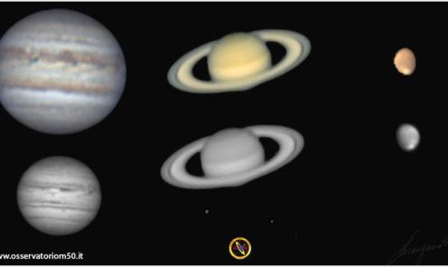 Tre pianeti in un'unica serata 07 07 2020