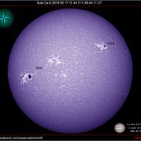 Sole Ca-K  n AR 16-05-17 11-44-11h 09 44 11 UT